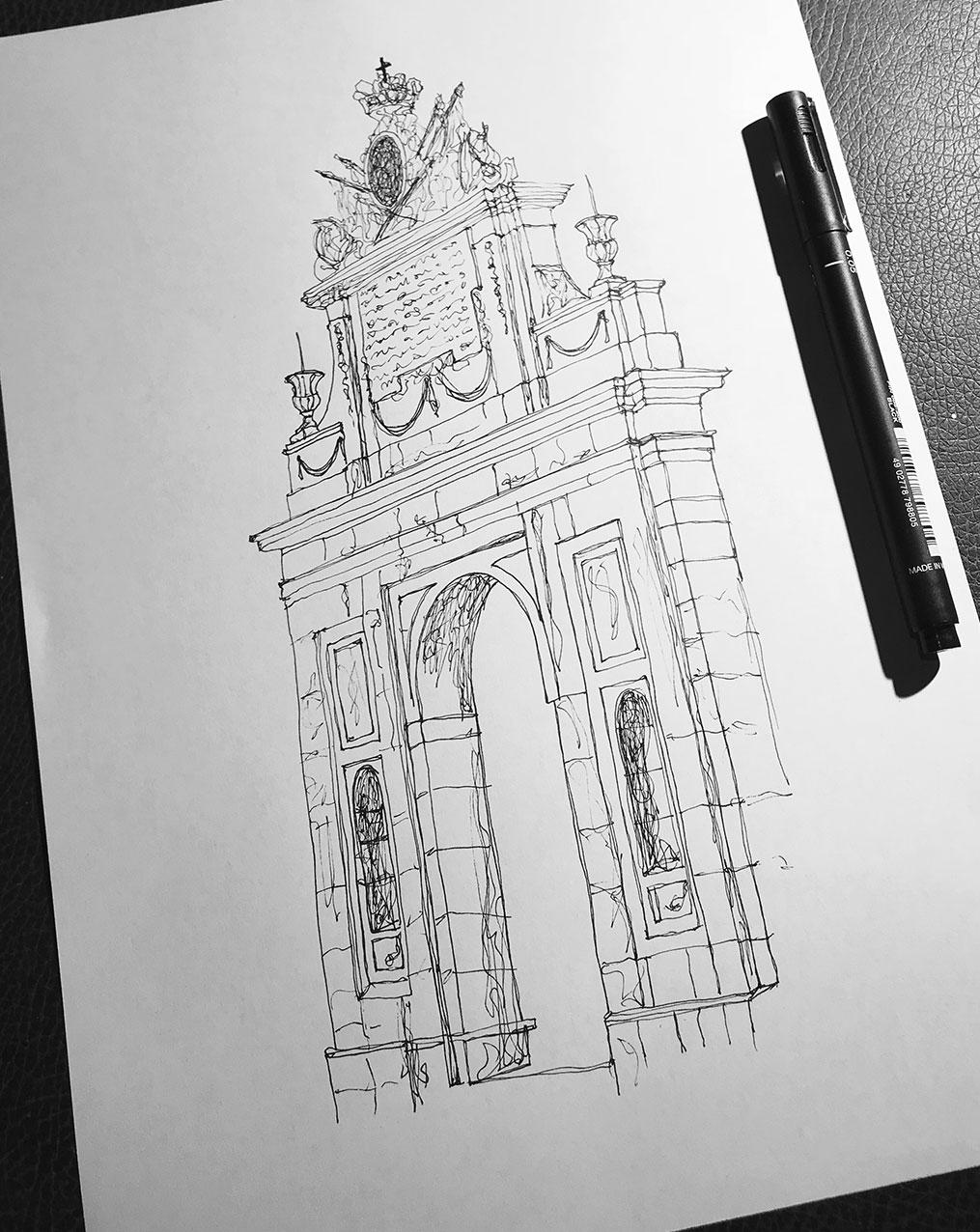 ilustração Palacio de seteais